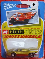 Porsche (streamer020nl) Tags: auto greatbritain car metal toys corgi models card junior gb 1970 juniors collector diecast jouets speelgoed mettoy whizzwheels