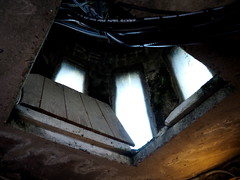 The top of the tower (pilechko) Tags: bowmanshill newhope pennsylvania inside light window shadows