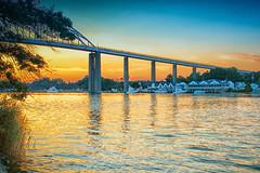 Exploring (peggypryor68) Tags: colorefex dynamic cy365 bridge sunset potd framed 2016 7172016 july chesapeakecity