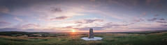 Cley Hill Pano [colour]. (gcu_sketcher) Tags: xt1 xf1024 viveza sunset summer wiltshire pano panorama cleyhill landscape clouds ptgui