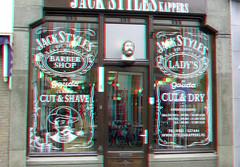 Jack Style Barbershop Gouda 3D (wim hoppenbrouwers) Tags: jackstyle barbershop gouda 3d anaglyph stereo redcyan kapper cutshave windows