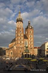 Krakw - St. Mary's Basilica (Rolandito.) Tags: church st basilica kirche poland polska krakow marys polen cracow polonia cracovie krakau pologne