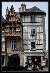 Angle des rues Kron et Saint-Franois - Kereon and Saint-Franois streets corner - Quimper (christian_lemale) Tags: house france architecture nikon brittany bretagne maison halftimbered kemper quimper colombages pansdebois d7100