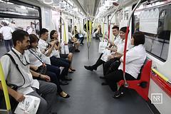 Majlis pembukaan rasmi projek sambungan laluan LRT Ampang dan LRT laluan Kelana Jaya. Stesen LRT Putra Heights,Subang Jaya.30/6/16