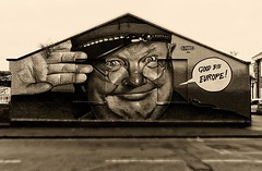 Dads army..... (Alpha Rios) Tags: whodoyouthinkyouarekiddingmrhitler wall salute portrait goodbye army dads eu europe dadsarmy a77 alpha sony artwork upfest2016 paint 2016 upfest graf artist art odeith graffiti