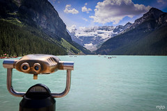 An eye on Lake Louise (mzagerp) Tags: road trip usa canada rockies rocheuses etats unis mzagerp banff national park lake louise moraine lac emerald meraude plain six glaciers columbia icefield glacier