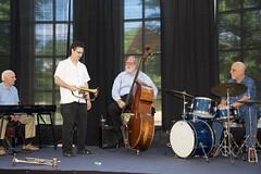 2016 July 25, Jazzing at the Florence Library (King Kong 911) Tags: base billgoodwin drums keyboard sax nealstarkey renekoopman trumpet
