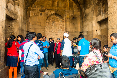 Accessible Tour of Qutub Minar: A view from inside the minar.
