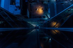 Look down and reflect.  #Detroit #Reflection #Lookdown #Rooftop #ChasingRooftops #DetroitRooftops #NightPhotography #NightShot #Symmetry #UrbanExplorer #Urbex #DetroitMichigan #Michigan #PureMichigan (kallyone) Tags: detroitmichigan reflection detroitrooftops chasingrooftops michigan urbanexplorer puremichigan urbex detroit lookdown nightphotography nightshot rooftop symmetry