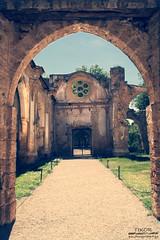 Heaven's door (ruined) (Tsundere_Tikor) Tags: sombras exterior building arquitectura arquitecture monastery espaa spain silencio silence ruinas ruins church iglesia tamron