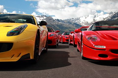 Ferraris and the Alps (D.N. Photography) Tags: ferrari f12 f12tdf tdf automotive auto automobile automobiles austria eos exotic exotics worldcars road transportation mountain mountains canon cars car 7d supercars supercar f50 f430 458 spider timmelsjoch