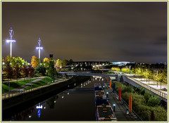 Serenity of night at the Olympic Park Stratford (kevingrieve610) Tags: olympic park stratford 2012 nightlights london city sport legacy flickr fujifilm outdoor wow