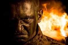 Ferociousness In Battle (Daniel Bernhart) Tags: ferociousness battle soldier death fire firearm nikond3 marpat facepaint