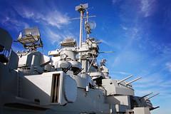 USS Alabama, Mobile Bay, AL (Flashlight to Streetlight) Tags: ussalabama boat battleship daytime dayphotography mobile mobileal steam wartime clouds sky blue gray