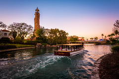 Movie Magic (Tyler Bliss) Tags: universal studios florida orlando islands adventure water taxi sunset moments universalmoments harry potter movie magic lowes royal pacific hotel explore dusk tylerbliss nikon