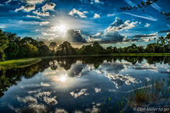 Daily Reflection (DonMiller_ToGo) Tags: hdr millerville sun 3xp hdrphotography sunsetsniper onawalk clouds sky d5500 lake reflection outdoors florida