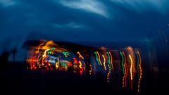 BLEUE EST LA NUIT (zventure,) Tags: couleurs crpuscule antibes icm flou fil ombre noir bleue abstrait abstract alpesmaritimes arbres nuit
