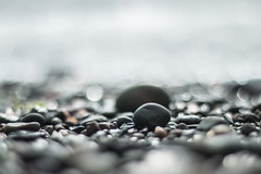 Pebbles (jillyspoon) Tags: pebbles pebbled beachpebbles canon70d bokeh circles damp grey greys low lowdown