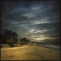 Evening in Civitavecchia. (odinvadim) Tags: landscape igcaptureslandscapes evening clouds iphoneart iphoneography iphoneonly painterly autumn mytravelgram painterlymobileart sunset italy iphone enteredinsyb snapseed storm instapickskyart travel textured textures