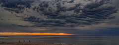 Rain Coming (johnwilliamson4) Tags: beach clouds joggers orance semaphore sky sunset water adelaide southaustralia australia