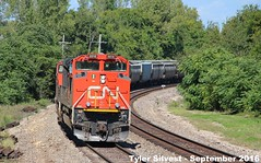 DPU's on a EB Covered Hopper Shawnee, KS 9-17-16 (KansasScanner) Tags: shawnee zarah kansas bnsf railroad train