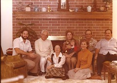 Dad, Grandpa RC, Grandma Nell, Mom, Robyn, Grandpa Bart, Grandma Rella, and Uncle John (maozed) Tags: oldphotos people family grandpabart grandmarella color dad mom grandparc grandmanell unclejohn robyn