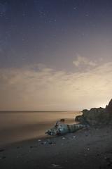Sadness by the sea (visnuh) Tags: playadelmolinodepapel maro nerja mlaga andalucia mediterrneo nocturna largaexposicin longexpo longexposure canoneos70d canonefs1755f28 deaddolphin delfnmuerto playa arena estrellas stars beach sand