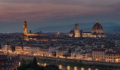 Florence cityscape (urbanexpl0rer) Tags: florence firenze italy city cityscape historicalcity oldcity water river buildings dawn