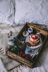 Goat Cheese Marscarpone Vanilla Bean Pancakes by Eva Kosmas Flores | Adventures in Cooking (Eva Kosmas Flores) Tags: cheese pancakes cinnamon goat bean whippedcream vanilla rhubarb mothersday breakfastinbed strawberrysyrup marscarpone