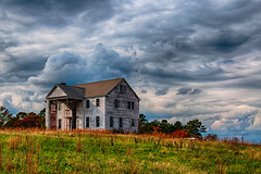american landscape (pit_schulz) Tags: ocean old trees summer usa house building green nature architecture clouds america landscape fineart