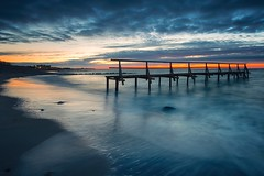 April (dubdream) Tags: ocean longexposure sea sky cloud house seascape beach water night germany coast nikon surf wind jetty balticsea ostsee cloudysky schleswigholstein d800 langzeitbelichtung heiligenhafen colorimage dubdream
