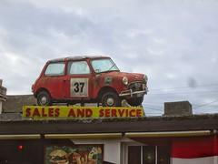 Mini on a Roof. (RUSTDREAMER.) Tags: abandoned austin plymouth mini devon derelict rustdreamer