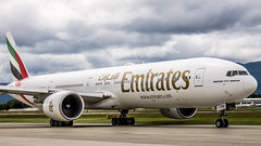 """Emirates 777-300ER at Geneva airport taxiing for departure • <a style=""""font-size:0.8em;"""" href=""""http://www.flickr.com/photos/125767964@N08/17900053845/"""" target=""""_blank"""">View on Flickr</a>"""