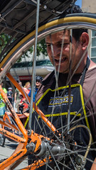 Work for me!? (El argentino) Tags: bike bicycle vintage lens 50mm prime los pentax angeles sony pasadena cranc kmount a6000 ciclavia