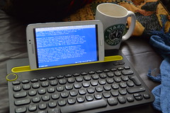 keyboard samsung retro tablet android msdos wordperfect