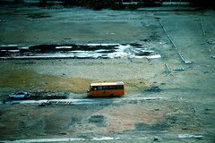 Lonely Bus - Cold edition (AlessandroDM) Tags: egypt cairo autobus egitto