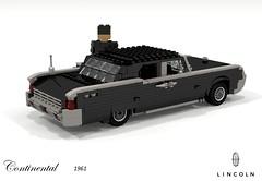 Lincoln Continental 1961 (lego911) Tags: lincoln continental 1961 1960s classic matrix film movie luxury ford motor company auto car moc model miniland lego lego911 ldd render cad povray usa america v8 chrome