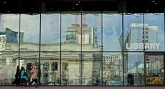 A city library (agadzicio) Tags: glass birmingham roadworks library citylife knowledge wisdom urbanlandscape glasswall biblioteka citylibrary bibliotekamiejska