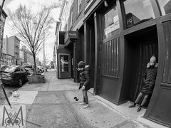 Playing in Brooklyn (Megan Crandlemire Photography) Tags: megancrandlemire olympus em1 micro43 omd zuiko street photography black white monochrome nyc bnf fotografiacallejera photographiederue