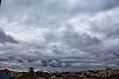 spell of rain (ensoleillement91) Tags: clouds sky rain india hyderabad nature landscape weather morning mist wind nofilter cloud blue storm thunder wet home birds