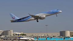 OO-JEB - Jetairfly -  Embraer ERJ-190STD (ERJ-190-100) - PMI/LEPA (Juan Rodriguez - PMI/LEPA) Tags: nikon d90 sigma 70200mm 80400mm pmilepa sonsanjuan sonsantjoan palma mallorca aeroplano plane airplane aircraft embraer erj190 jetairfly oojeb aeropuerto airport