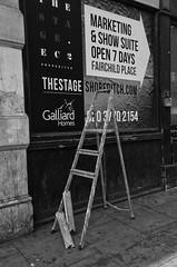 Broken Dreams (bensonfive) Tags: london monochrome steps streetphotography shoreditch dreams ricohgr stepladder eastlondon blackwhitephotography