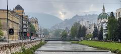 Une matine brumeuse  Sarajevo (Vincent Rowell) Tags: raw tonemapped balkans2016 sarajevo bosniaandherzegovina miljacka clouds bridge festinalente