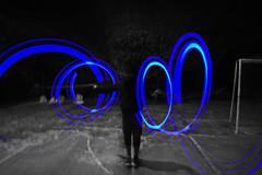 Poderoso con rayos de luz / Powerful with rays of light (Juan David Bastidas Blanco) Tags: luces pintando con luz color selectivo azul light painting selective desaturation blue bogota colombia