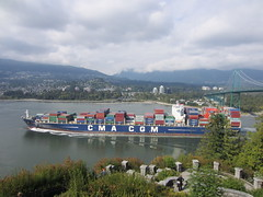 IMG_1425 (vancouverbyte) Tags: vancouver vancouvercity vancouverbc containership cmacgmmelisande prospectpoint