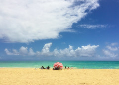 Waimanalo beach dreaming (Remember To Breathe) Tags: beach hawaii oahu beachumbrella usahawaii waimanalobeach