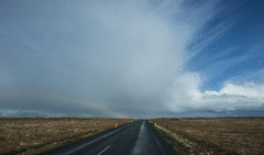 we met some weather on this Icelandic road (lunaryuna) Tags: voyage sky rain weather clouds landscape iceland rainbow journey raod lunaryuna ontheroad stormclouds roundtrip southiceland