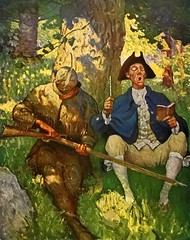 """David Gamut"" by N. C. Wyeth from ""The Last of the Mohicans"" by James Fenimore Cooper. NY: Scribner's, 1919. First edition (lhboudreau) Tags: book books hardcover hardcovers hardcoverbook hardcoverbooks vintagebook vintagebooks classicbook classicbooks classicnovel classicstory art artist illustrator illustrated illustration illustrations drawing drawings illustratedbook illustratedbooks illustratedclassics bookart wyeth ncwyeth 1919 illustratedclassic vintageillustration vintageillustrations classicillustrator classicillustrations vintagebookillustrations vintagebookillustration lastofthemohicans mohicans thelastofthemohicans cooper jamesfenimorecooper fenimore uncas frenchandindianwar 1757 nattybumppo hawkeye chingachgook americanindian americanindians nativeamerican nativeamericans indians indian charlesscribnerssons scribners charlesscribners firstedition fiction gamut davidgamut rifle tree trees green"