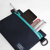 Flat Pouch Aqua 10 (Imagery Bags) Tags: zipper ykk waterresistant flatpouch drypouch
