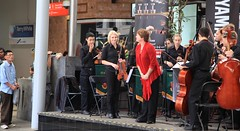 St Pauls College Band and Choir, Queen Street Mall Brisbane, (Photos by Lance) Tags: citysounds brisbanecitybandsfestival stpaulssymphonyandstringsandchoir brisbanecbd brisbanecitymall queenstreet outdoor music performers schoolbands yamaha symphony